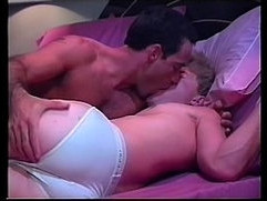 dar mature and blond bed scene