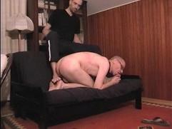 Lick my smelly feet slut boy ...