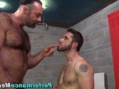 Burly big bear blows load