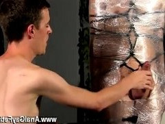 Hot twink scene Cristian is almost swinging, wrapped up in wire and