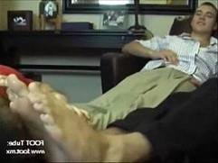 Studs getting their feet worshipped by a slut