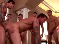Nasty jock gets multiple cum loads
